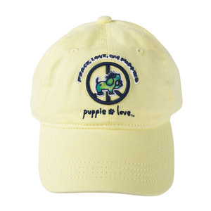 Peace by Puppie Love - Light Yellow Adjustable Hat