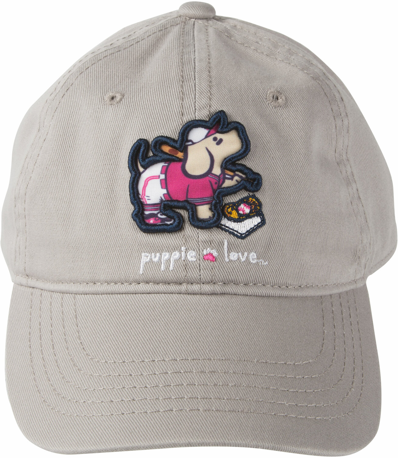 Softball by Puppie Love - Softball - Light Gray Adjustable Hat
