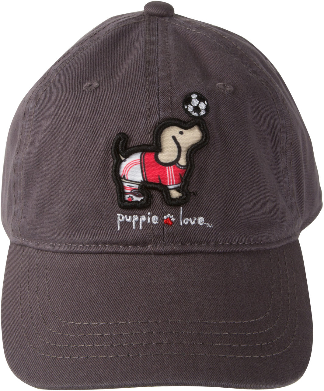 Soccer by Puppie Love - Soccer - Dark Gray Adjustable Hat