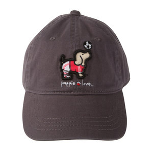 Soccer by Puppie Love - Dark Gray Adjustable Hat