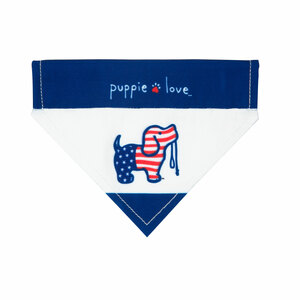"USA by Puppie Love - 7"" x 5"" Canvas Slip on Pet Bandana"