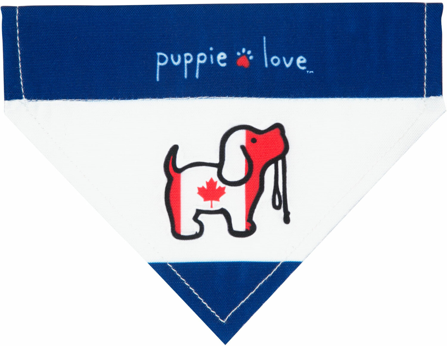 "Canada by Puppie Love - Canada - 7"" x 5"" Canvas Slip on Pet Bandana"