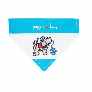 "Lake by Puppie Love - 7"" x 5"" Canvas Slip on Pet Bandana"