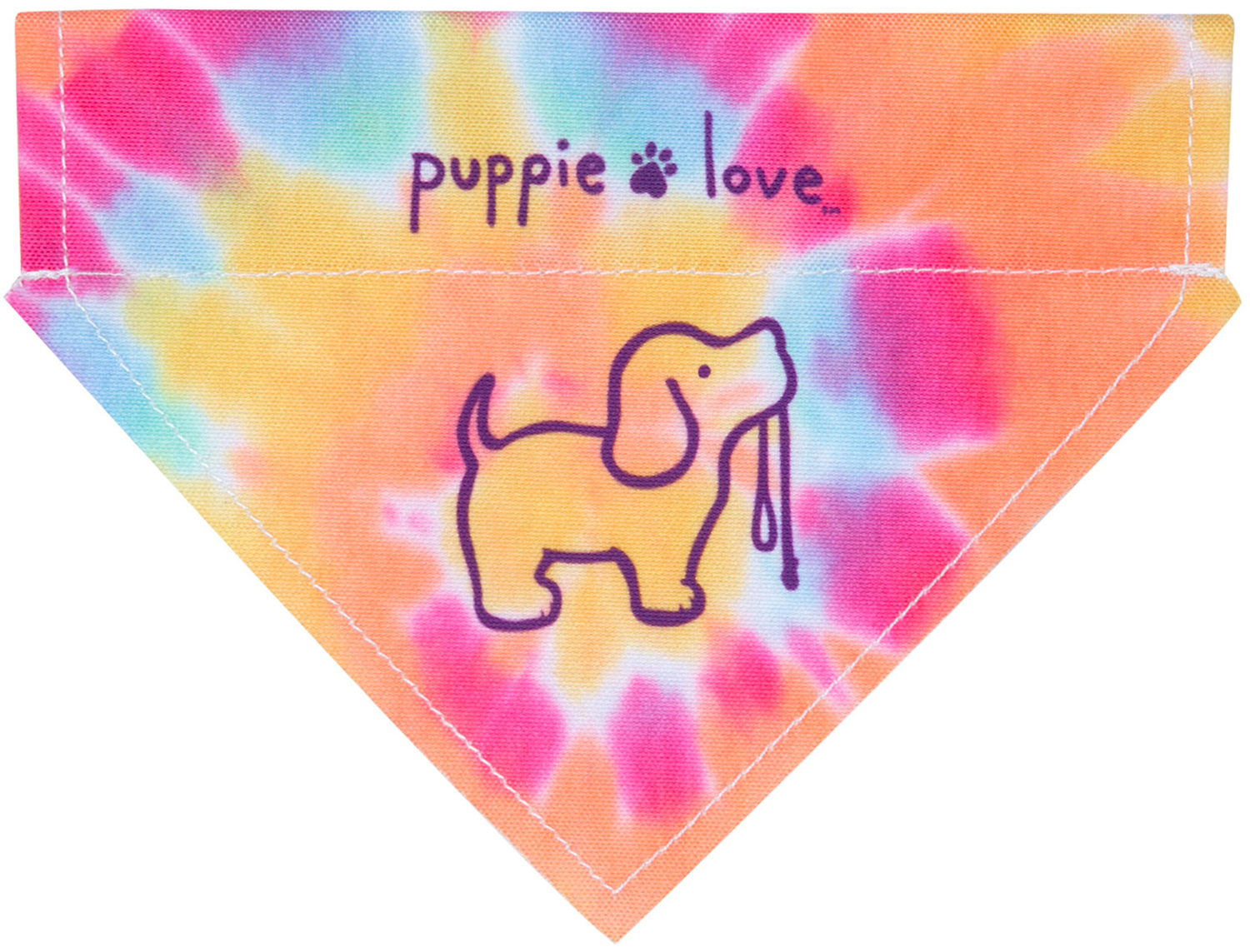 "Tie Dye by Puppie Love - Tie Dye - 7"" x 5"" Canvas Slip on Pet Bandana"
