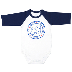 Puppie Love by Puppie Love - 6-12 Months 3/4 Length Navy Sleeve Onesie
