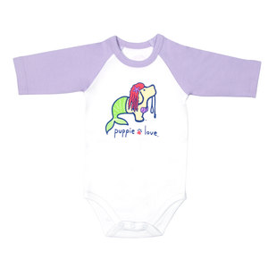 Mermaid by Puppie Love - 6-12 Months 3/4 Length Purple Sleeve Onesie