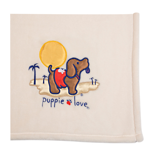 "Beach by Puppie Love - 50"" x 60"" Blanket"
