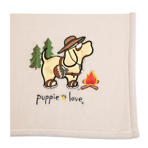 "Camping by Puppie Love - 50"" x 60"" Blanket"
