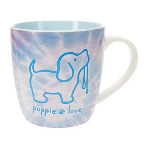 Tie Dye #4 by Puppie Love - 17 oz Cup