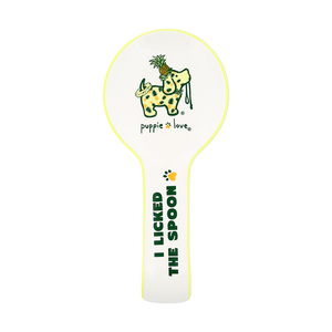 "Pineapple - Licked by Puppie Love - 9.25"" Spoon Rest"