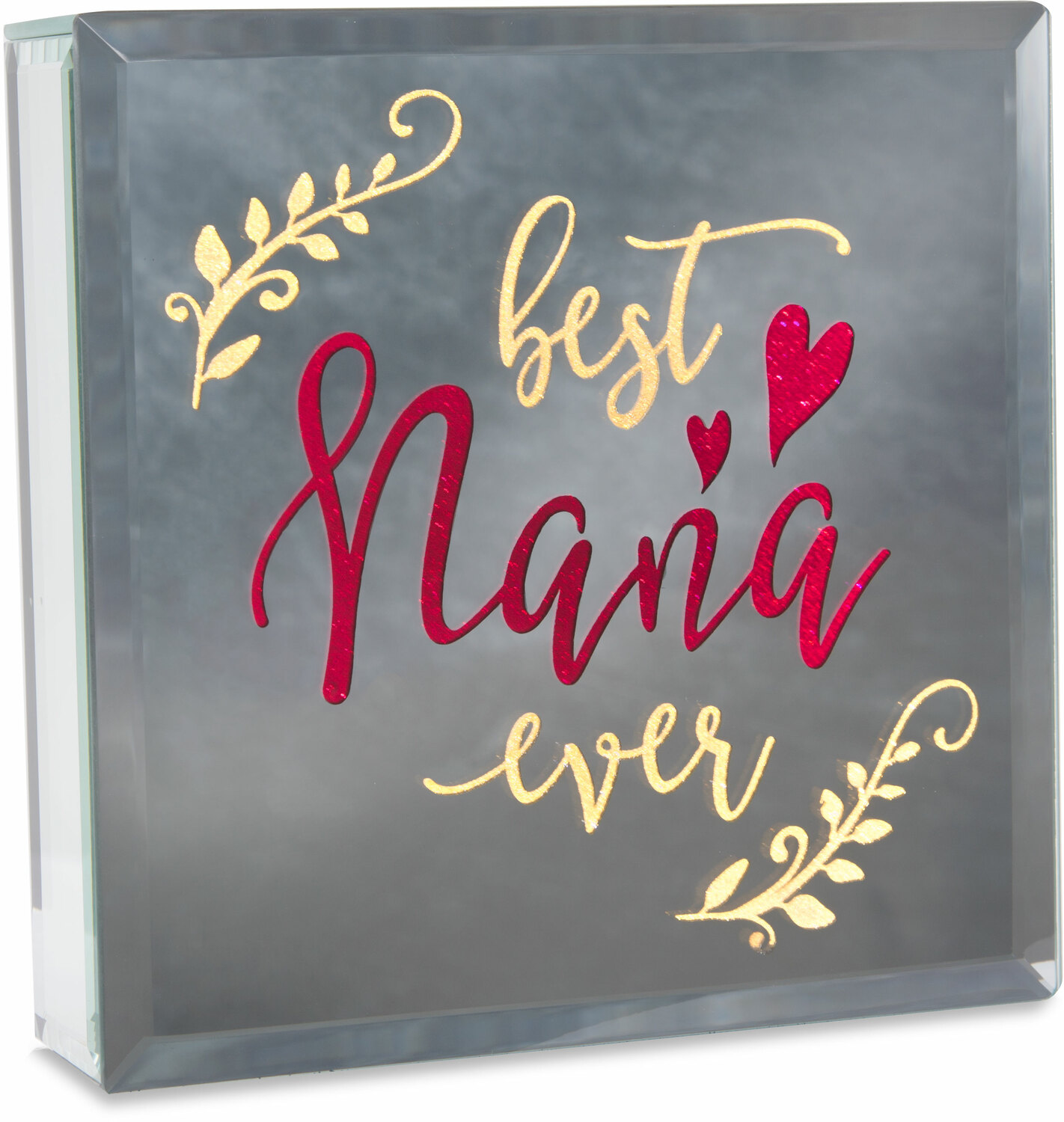 "Nana by Reflections of You - Nana - 6"" Lit-Mirrored Plaque"