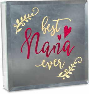 "Nana by Reflections of You - 6"" Lit-Mirrored Plaque"