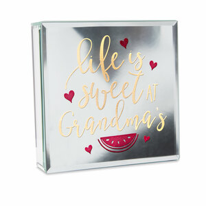 "Grandma by Reflections of You - 6"" Lit-Mirrored Plaque"