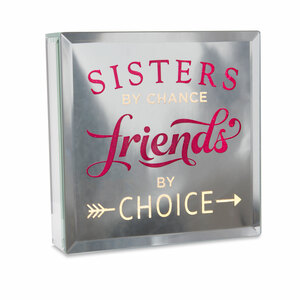 "Sisters by Reflections of You - 6"" Lit-Mirrored Plaque"