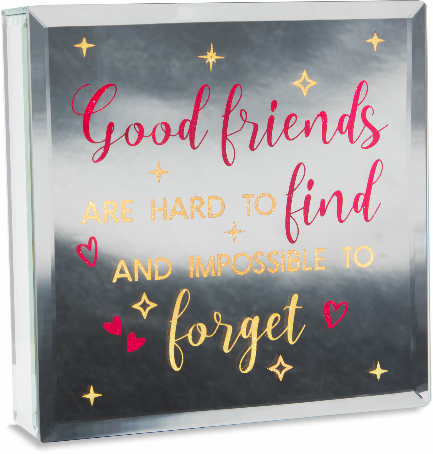 "Good Friends by Reflections of You - Good Friends - 6"" Lit-Mirrored Plaque"