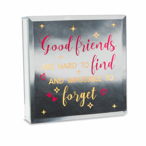 "Good Friends by Reflections of You - 6"" Lit-Mirrored Plaque"
