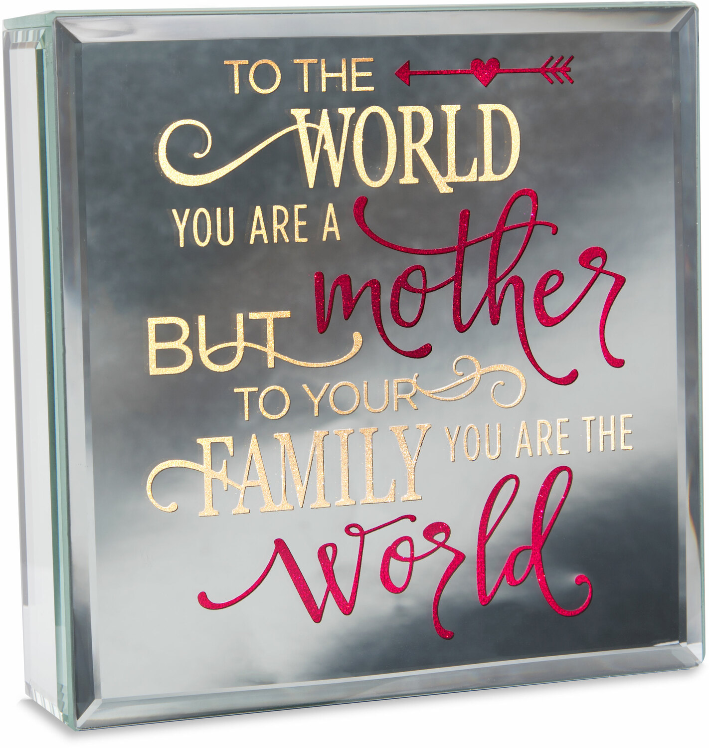 "Mother by Reflections of You - Mother - 6"" Lit-Mirrored Plaque"