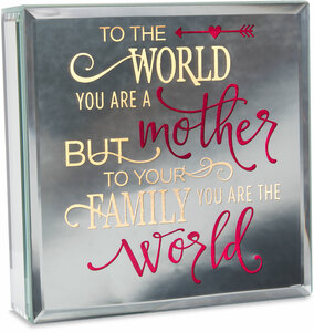 "Mother by Reflections of You - 6"" Lit-Mirrored Plaque"