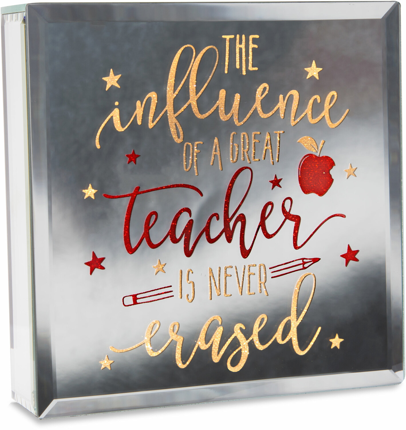 "Teacher by Reflections of You - Teacher - 6"" Lit-Mirrored Plaque"