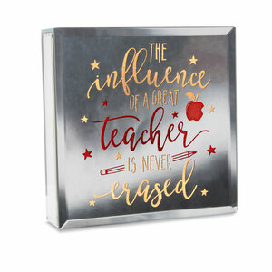 "Teacher by Reflections of You - 6"" Lit-Mirrored Plaque"