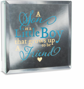 "Little Boy by Reflections of You - 6"" Lit-Mirrored Plaque"