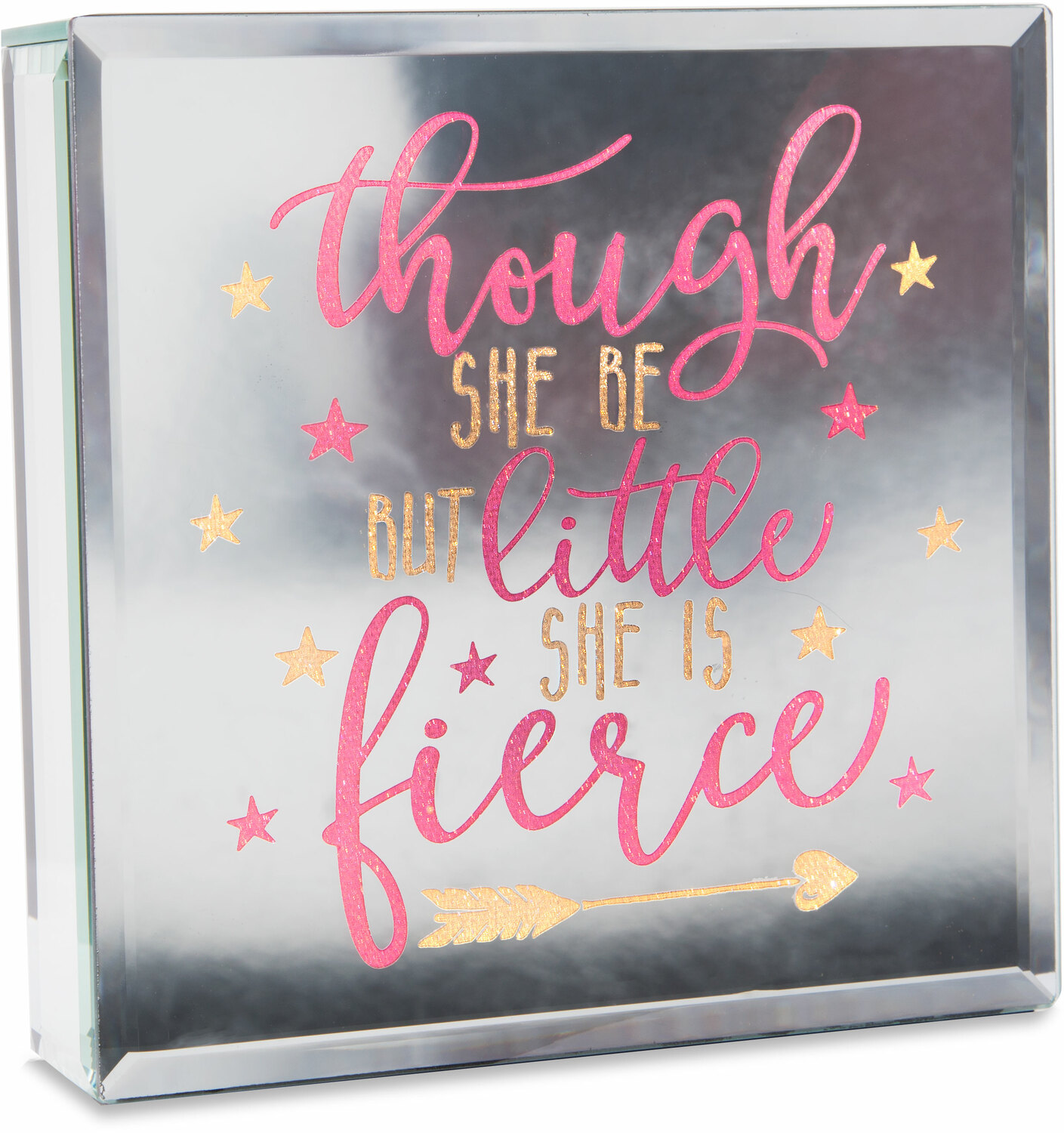 "Fierce by Reflections of You - Fierce - 6"" Lit-Mirrored Plaque"