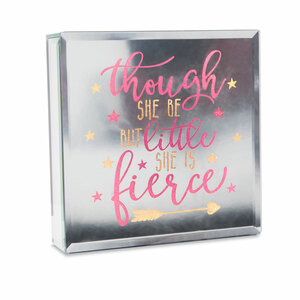 "Fierce by Reflections of You - 6"" Lit-Mirrored Plaque"