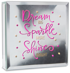 "Dream by Reflections of You - 6"" Lit-Mirrored Plaque"