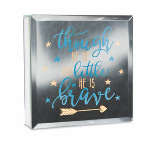"Brave by Reflections of You - 6"" Lit-Mirrored Plaque"