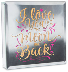 "Love by Reflections of You - 6"" Lit-Mirrored Plaque"