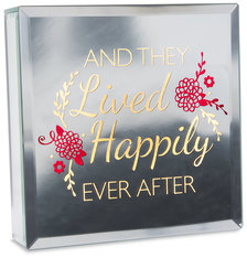 "Happily Ever After by Reflections of You - 6"" Lit-Mirrored Plaque"