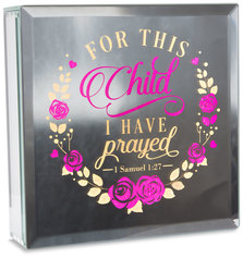 "Child by Reflections of You - 6"" Lit-Mirrored Plaque"