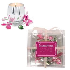 Grandma Pink Butterfly by Reflections of You - 3.5oz 100% Soy Wax Candle Scent: Jasmine