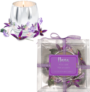 Nana Purple Flower by Reflections of You - 3.5oz 100% Soy Wax Candle Scent: Jasmine