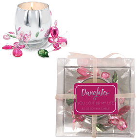 Daughter Pink Butterfly by Reflections of You - 3.5oz 100% Soy Wax Candle Scent: Jasmine