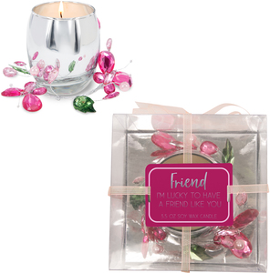 Friend Pink Butterfly by Reflections of You - 3.5oz 100% Soy Wax Candle Scent: Jasmine