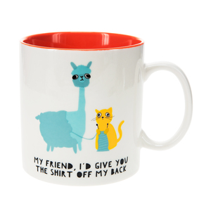 Llama & Cat by Fugly Friends - 17 oz Mug