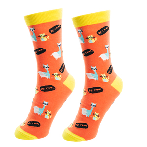No Drama Llama by Fugly Friends - S/M Unisex Cotton Blend Sock
