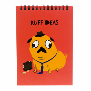"Ruff Ideas by Fugly Friends - 5"" X 7"" Notepad"