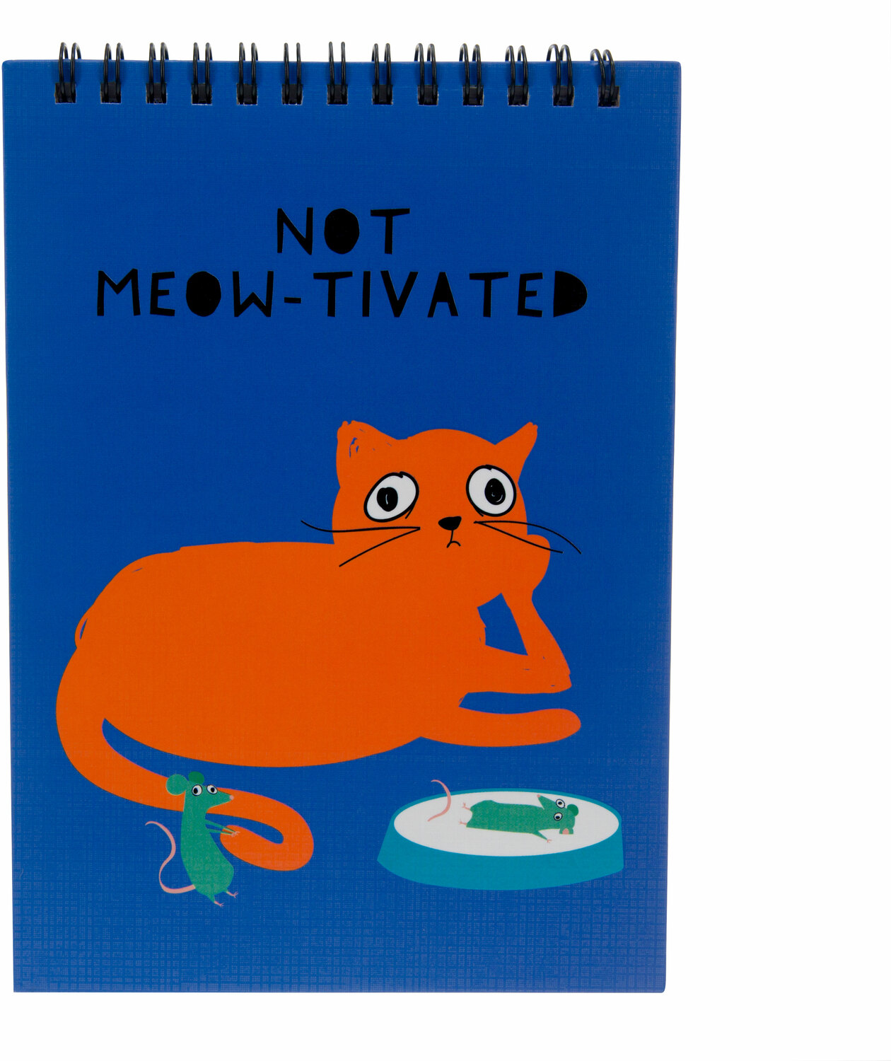 "Not Meow-tivated by Fugly Friends - Not Meow-tivated - 5"" X 7"" Notepad"