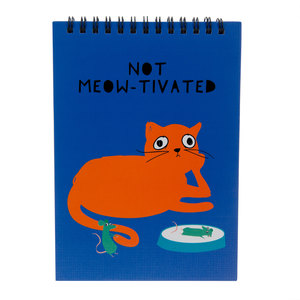 "Not Meow-tivated by Fugly Friends - 5"" X 7"" Notepad"