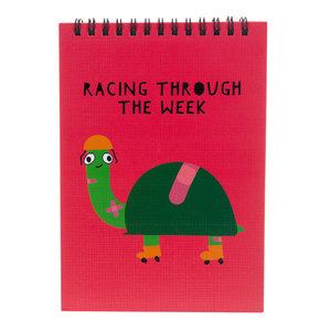 "Racing  by Fugly Friends - 5"" X 7"" Notepad"