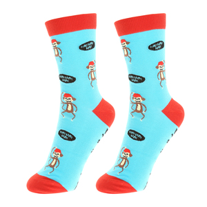 Going Bananas by Fugly Friends - S/M Unisex Cotton Blend Sock