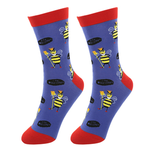 Buzz Off by Fugly Friends - S/M Unisex Cotton Blend Sock
