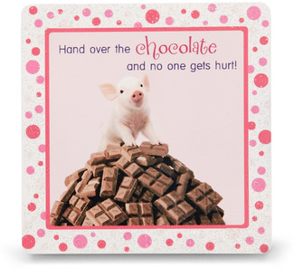 "Chocolate by Shaded Pink - 3.5"" x 3.5"" Standing Plaque"