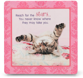 "Reach for the Stars by Shaded Pink - 3.5"" x 3.5"" Standing Plaque"