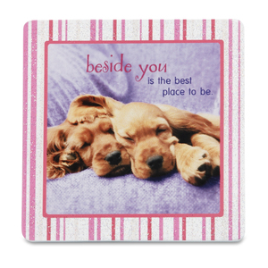 "Beside you by Shaded Pink - 3.5"" x 3.5"" Standing Plaque"