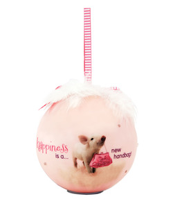 Happiness by Shaded Pink - 100mm Blinking Ornament