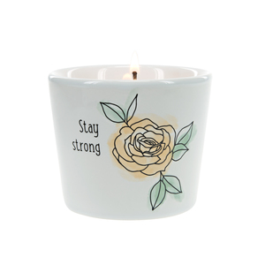 Stay Strong by Faith Hope and Healing - 8 oz - 100% Soy Wax Candle Scent: Tranquility