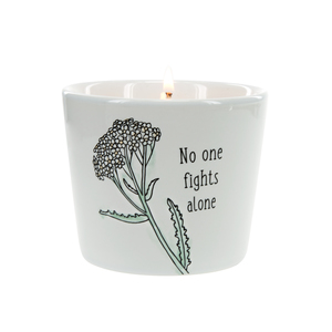 No One Fights Alone by Faith Hope and Healing - 8 oz - 100% Soy Wax Candle Scent: Tranquility